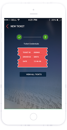 ticketing mobile app by toyaja